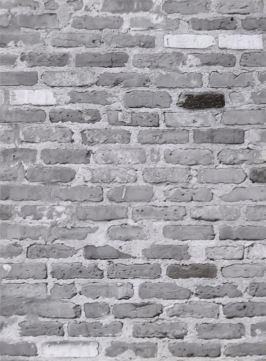 Brick wall by Ed Loftus Graphite on paper – 7.75 x 5.75 in