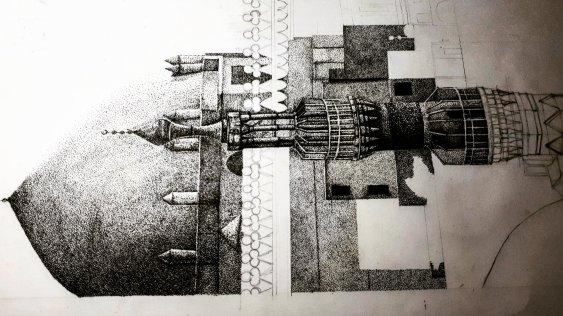Egypt Masjid (pointilism)