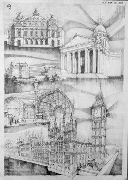 Pencil Architectural Illustration